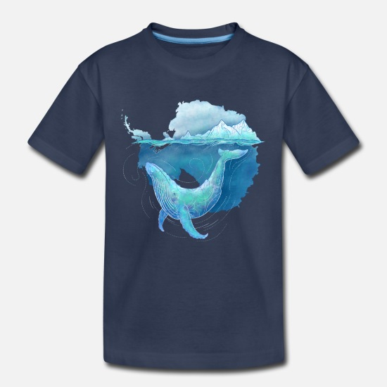 Antarctica Baby Clothing - Southern Ocean Whale Sanctuary - Toddler Premium T-Shirt navy