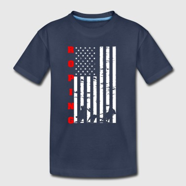 Roping Flag Tee Shirt - Toddler Premium T-Shirt