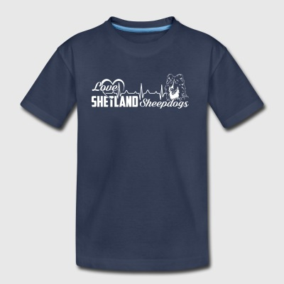 Love Shetland Sheepdog Tshirt - Toddler Premium T-Shirt