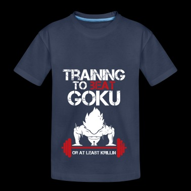 dragon ball super saiyan training to beat goku - Toddler Premium T-Shirt