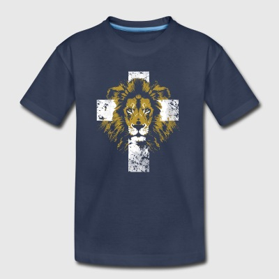 Lion of Judah Cross - Toddler Premium T-Shirt