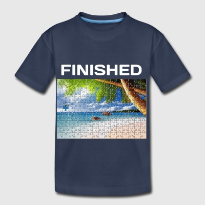 Beach Puzzle Finished - Toddler Premium T-Shirt