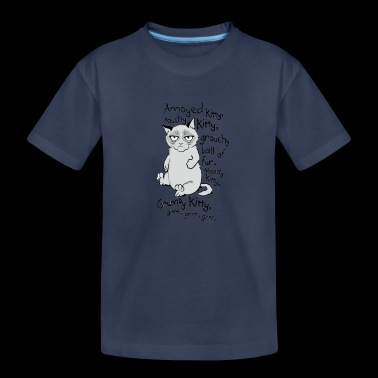 Grumpy Kitty Picture - Toddler Premium T-Shirt