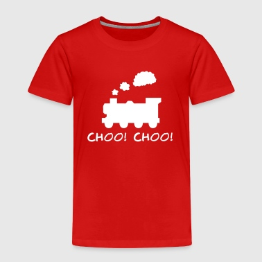 Choo! Choo! Steam Train Silhouette - Toddler Premium T-Shirt