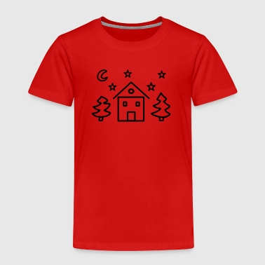 House fir moon starry sky - Toddler Premium T-Shirt