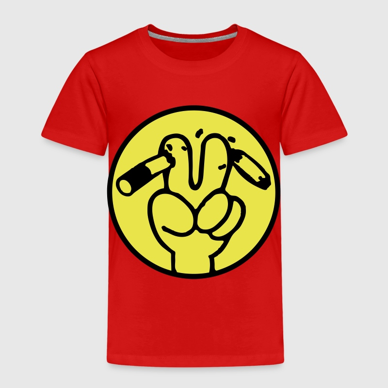 Peace Anti Smoking Sign - Toddler Premium T-Shirt