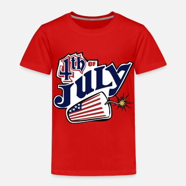 Happy 4th July July 4th - Toddler Premium T-Shirt