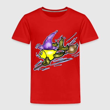 Fly Fishing Draw Wizard Fish - funny cute drawing, By FabSpark - Toddler Premium T-Shirt