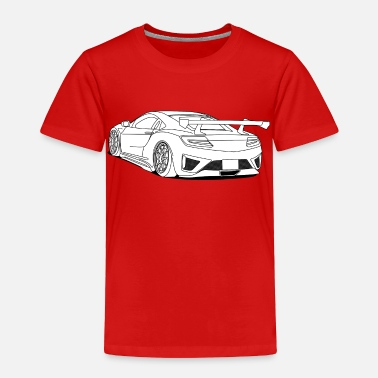 Sports Car cool car white - Toddler Premium T-Shirt