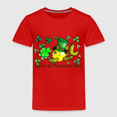 St Patricks Fish, Goldfish , Fabspark , Sheemrock - Toddler Premium T-Shirt