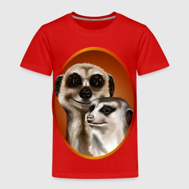 Two Meerkats Oval - Toddler Premium T-Shirt