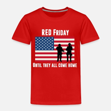 Warrior RED Friday Men's American Apparel  - Toddler Premium T-Shirt