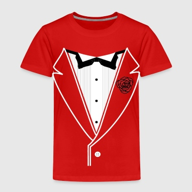 TUXEDO with Red Rose - Toddler Premium T-Shirt