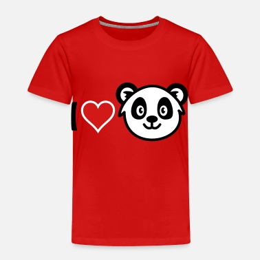 Pandas Filthy I love Panda - Toddler Premium T-Shirt