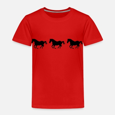 Western Three Horses Galloping - Toddler Premium T-Shirt