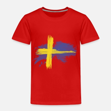 Stockholm sweden flag awesome - Toddler Premium T-Shirt
