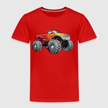 Blazing Hot Monster Truck - Toddler Premium T-Shirt