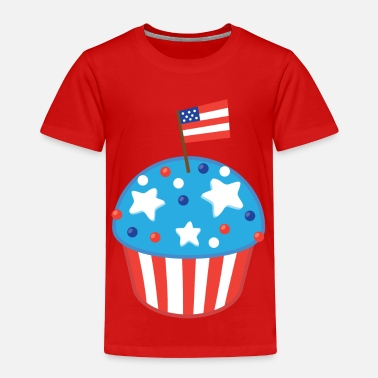 Cupcake 4th Of July Cupcake - Toddler Premium T-Shirt