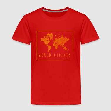 World citizen - global map - Toddler Premium T-Shirt