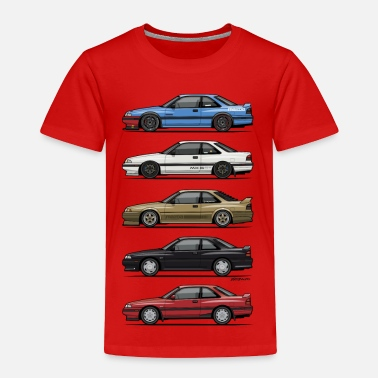 Vintage Mazda Stack of Mazda MX6 GTs - Toddler Premium T-Shirt