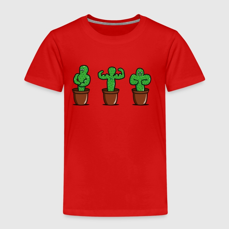 cactus bodybuilder - Toddler Premium T-Shirt