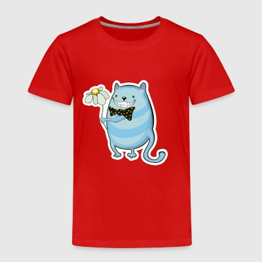 Holding Funny cat with flower - Toddler Premium T-Shirt