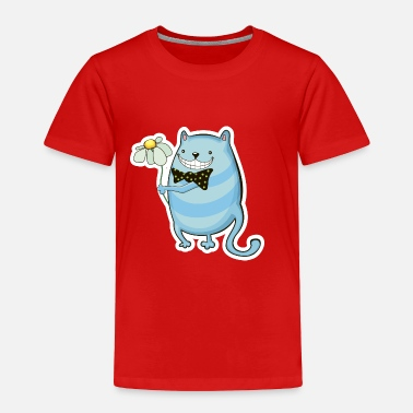 Flowers Funny cat with flower - Toddler Premium T-Shirt