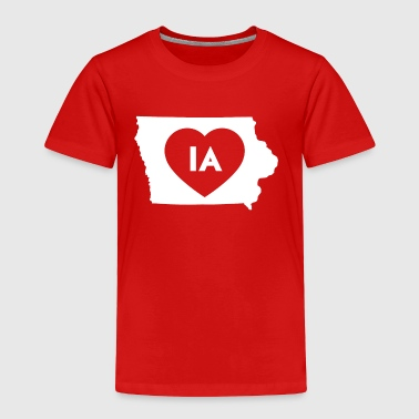 Hawkeye I Love Iowa State - Toddler Premium T-Shirt