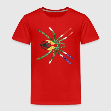SOUTH AFRICAN SPIDER FLAG - Toddler Premium T-Shirt