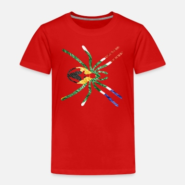 South African Flag SOUTH AFRICAN SPIDER FLAG - Toddler Premium T-Shirt