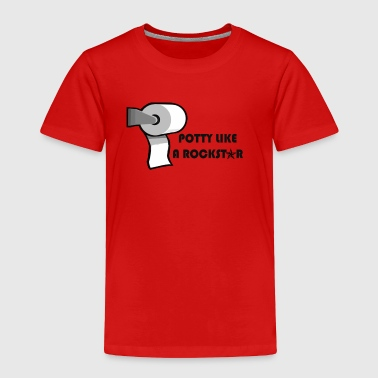 Potty like a rock star - Toddler Premium T-Shirt