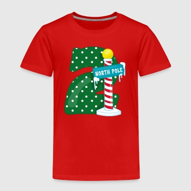 North Pole 2nd Birthday - Toddler Premium T-Shirt