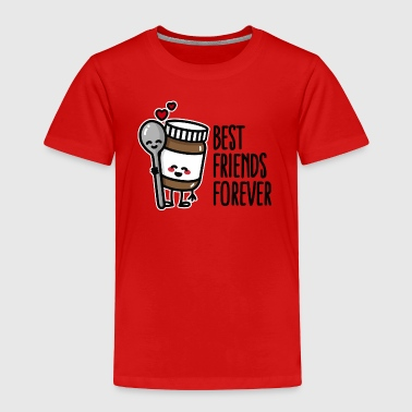 Best friends forever chocolate spread / spoon BFF - Toddler Premium T-Shirt