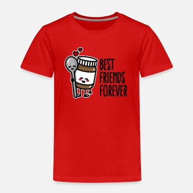 Chocolate Best friends forever chocolate spread / spoon BFF - Toddler Premium T-Shirt