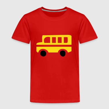 Bus Yellow School Bus Silhouette - Toddler Premium T-Shirt