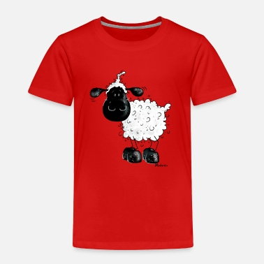 Sheep Cute Black Sheep Cartoon - Toddler Premium T-Shirt