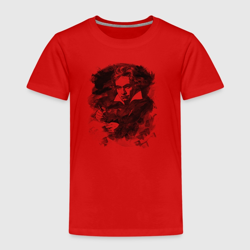 Ludwig van Beethoven - Abstract Watercolor Style - Toddler Premium T-Shirt