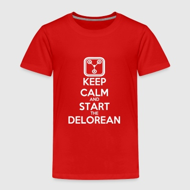 Keep Calm and start the Delorean - Toddler Premium T-Shirt