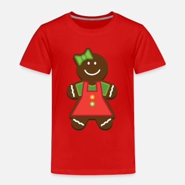 Gingerbread Girl Gingerbread Girl Christmas Cookie - Toddler Premium T-Shirt