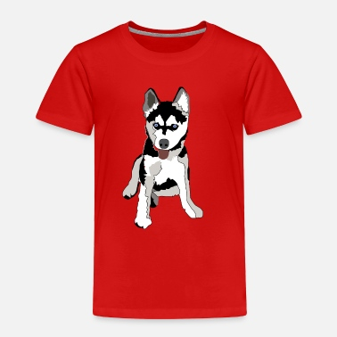 Text Love Husky Alaskan Alaska Puppy T-shirt - Toddler Premium T-Shirt