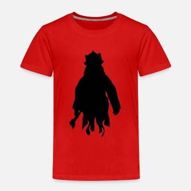 Rescue firman silhouette - Toddler Premium T-Shirt