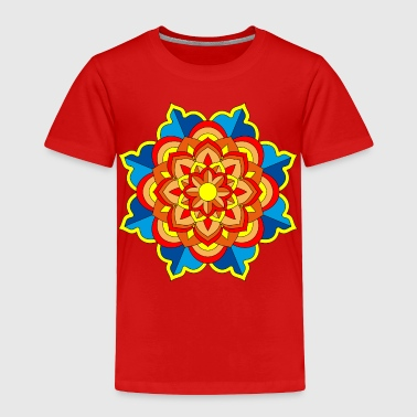 Circular Mandala Meditation Art - Toddler Premium T-Shirt