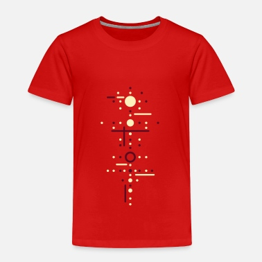 Dotted Line Points and lines - Toddler Premium T-Shirt