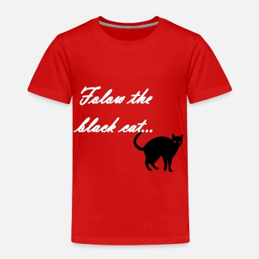 Cat follow the black cat - Toddler Premium T-Shirt