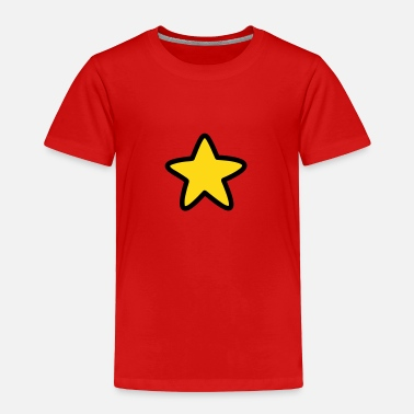 Red With Yellow Star Yellow Star - Toddler Premium T-Shirt