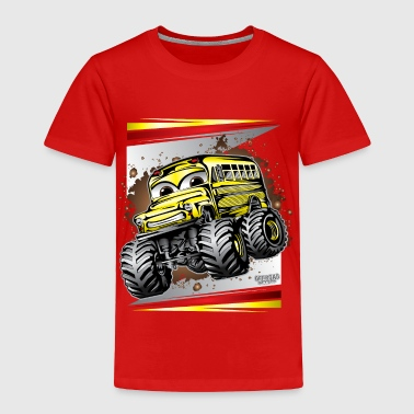 Cool Monster Bus - Toddler Premium T-Shirt
