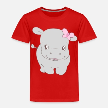 Hippie Girls Girl Hippo Hippy - Toddler Premium T-Shirt
