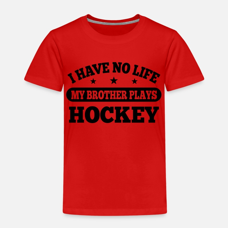 Hockey Baby Clothing - I Have No Life Hockey - Toddler Premium T-Shirt red