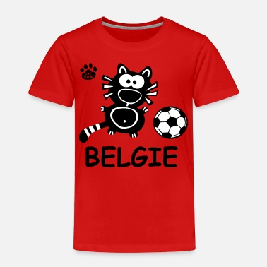 Kitty Cat Cat Cats Comic Belgie Belgique Funny Soccer Gifts - Toddler Premium T-Shirt