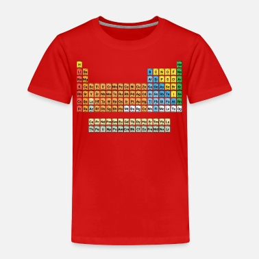 NEW Periodic Table of Elements COMPLETE & COLORFUL - Toddler Premium T-Shirt